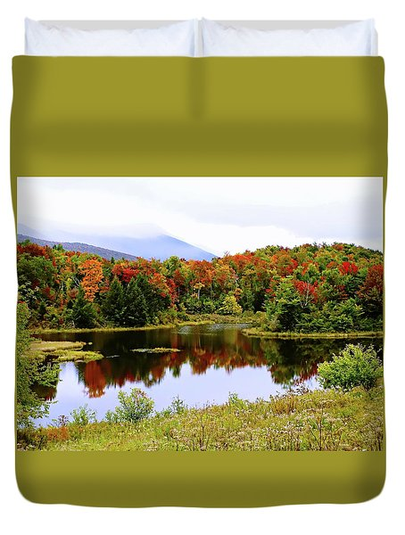Foggy Day In Vermont Duvet Cover by Joseph Hendrix