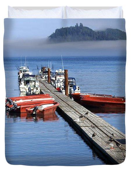 Foggy Dock Duvet Cover by Marty Koch