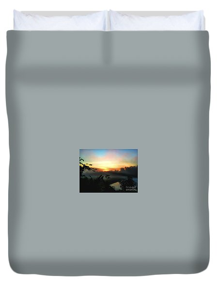 Foggy Edges Sunrise Duvet Cover