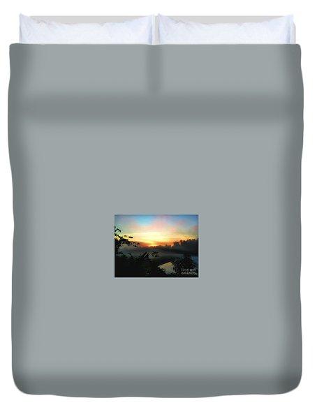 Foggy Edges Sunrise Duvet Cover by Craig Walters
