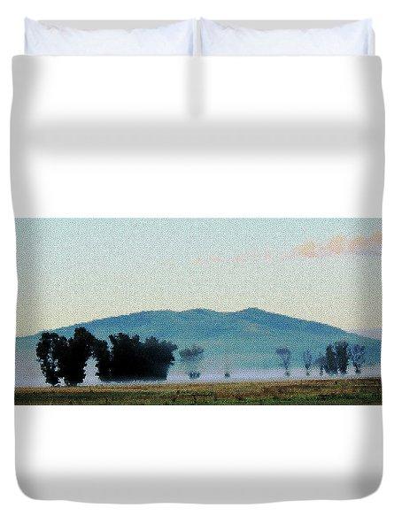 Foggy Field Duvet Cover