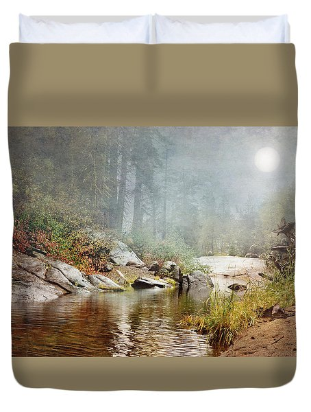 Foggy Fishin Hole Duvet Cover