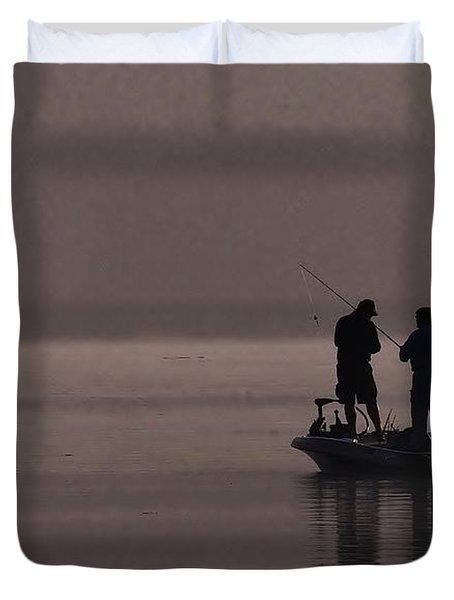 Foggy Fishing Duvet Cover