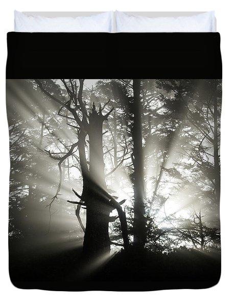 Foggy Flares Duvet Cover