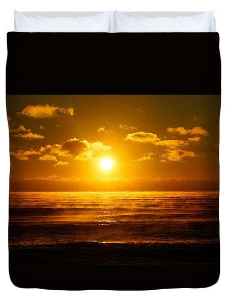 Foggy Gold Sunrise Duvet Cover