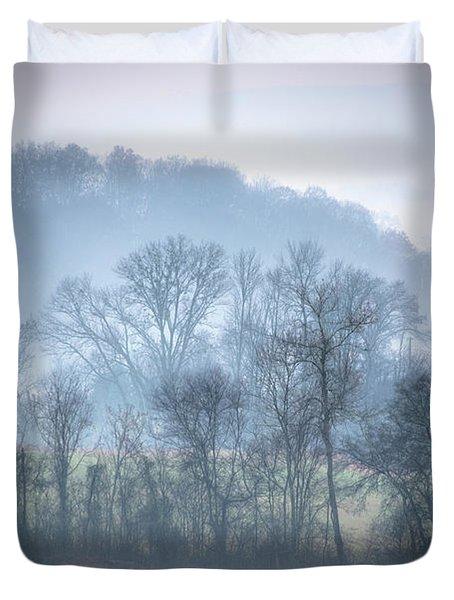 Foggy Hills Duvet Cover