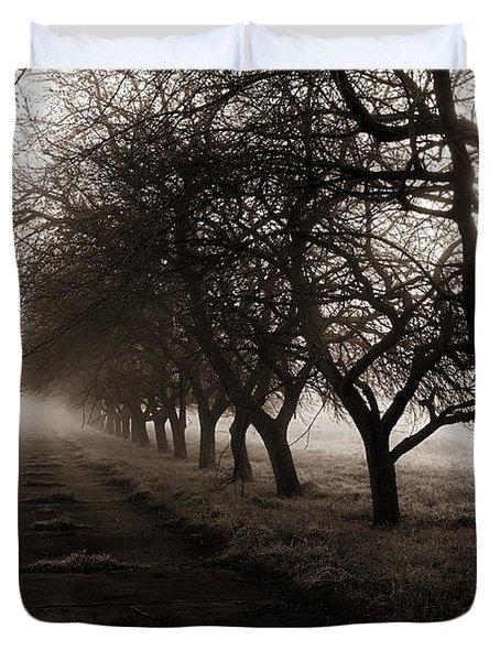 Foggy Lane Duvet Cover