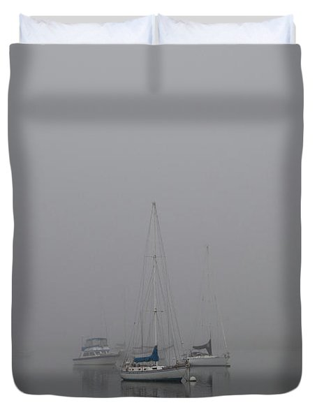 Waiting Out The Fog Duvet Cover