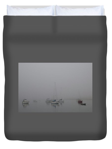 Duvet Cover featuring the photograph Waiting Out The Fog by David Chandler