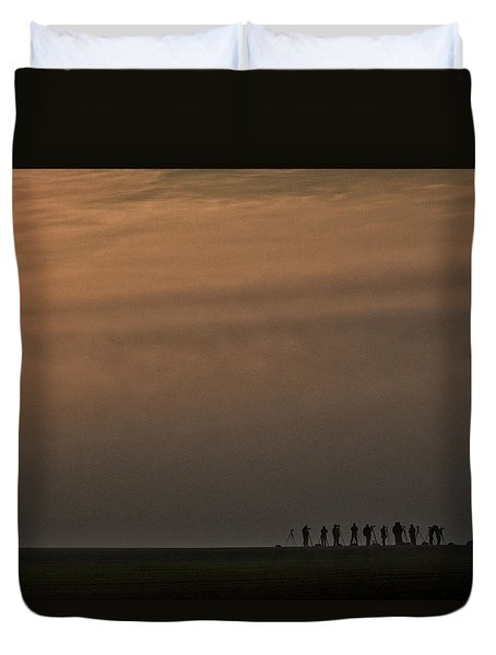 Duvet Cover featuring the photograph Foggy Moravian Morning - Czech Republic by Stuart Litoff