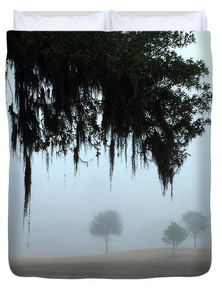 Foggy Morn Reflections Duvet Cover