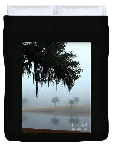 Foggy Morn Reflections Duvet Cover