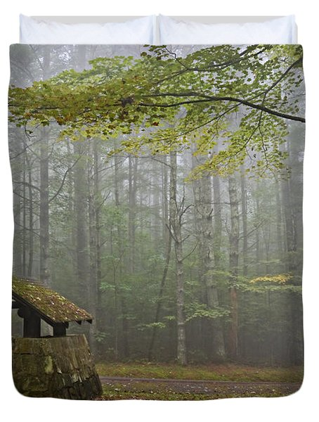 Foggy Morning At Droop Mountain Duvet Cover