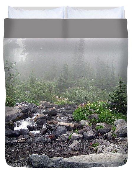 Foggy Morning At Paradise Duvet Cover