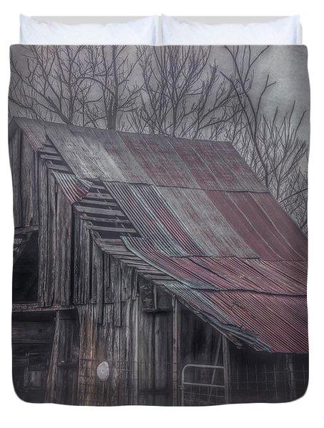 Foggy Morning Backroads Duvet Cover