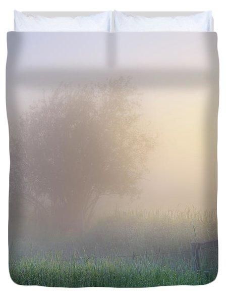 Foggy Morning Duvet Cover by Dan Jurak