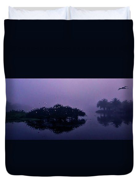 Duvet Cover featuring the photograph Foggy Morning by Don Durfee
