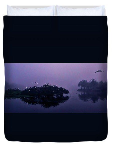 Foggy Morning Duvet Cover by Don Durfee