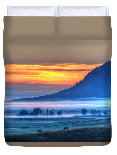 Foggy Morning Duvet Cover