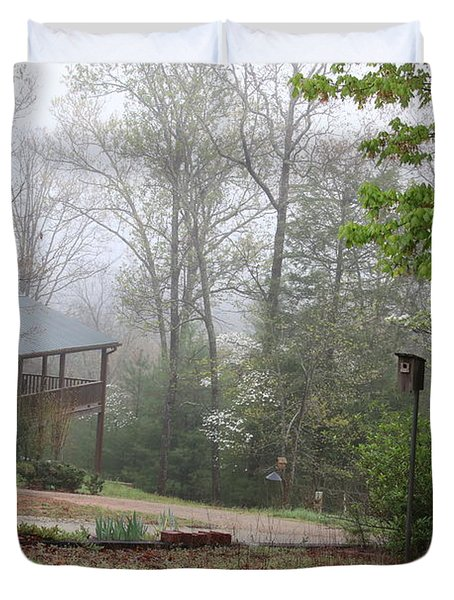 Foggy Morning In The Mountains Duvet Cover by Marilyn Carlyle Greiner