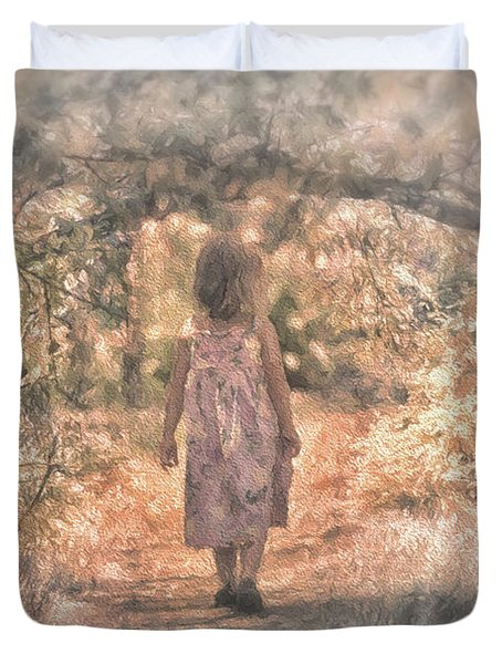 Foggy Morning Light Duvet Cover