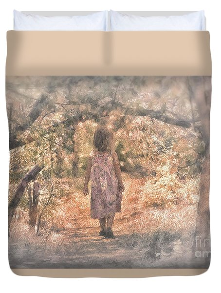 Foggy Morning Light Duvet Cover