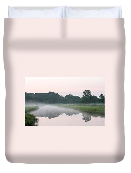 Foggy Morning Reflections Duvet Cover