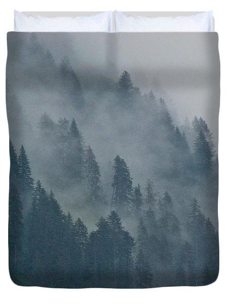 Foggy Mountain Ridge Duvet Cover