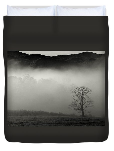 Foggy Mountain-tennessee Duvet Cover