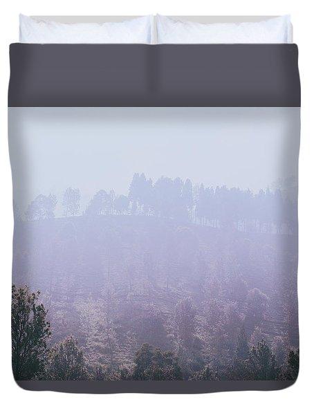 Foggy Puncak Duvet Cover