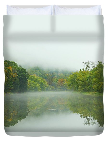 Foggy Reflections Duvet Cover by Karol Livote
