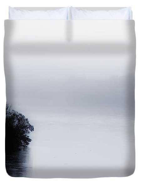 Foggy River Duvet Cover by Bill Cannon