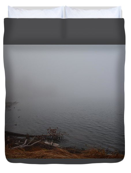 Foggy Shore Duvet Cover
