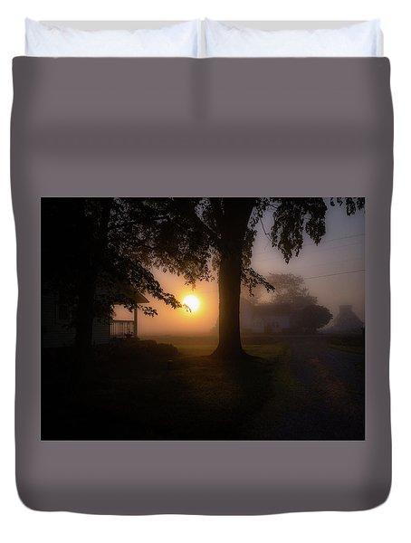 Foggy Sunrise Duvet Cover