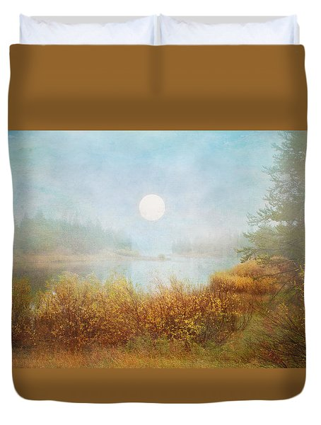 Foggy Sunrise  Duvet Cover