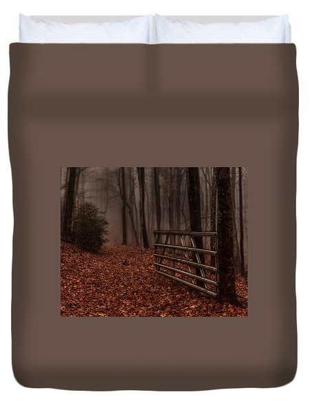 Foggy Trail Duvet Cover