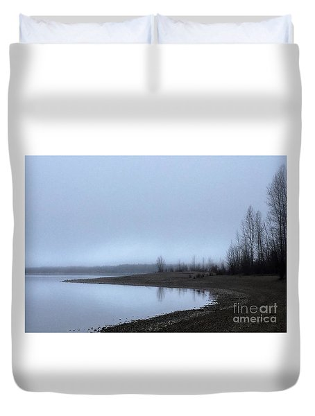 Duvet Cover featuring the photograph Foggy Water by Victor K