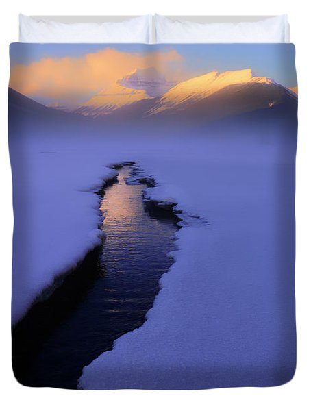 Foggy Winter Days In Banff Duvet Cover