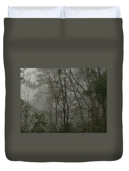 Foggy Woods Photo  Duvet Cover