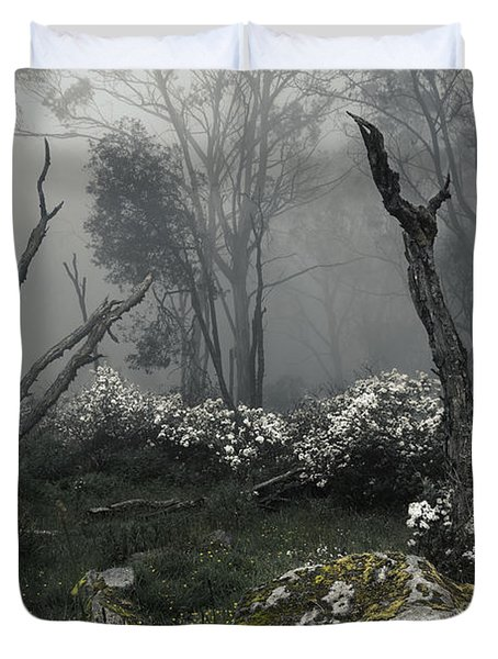 Fogscape Duvet Cover by Andrew Paranavitana