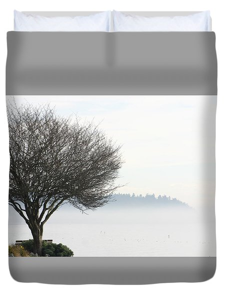 Fogscape Duvet Cover by Trudy Parman