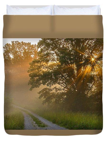 Fogy Summer Morning Duvet Cover
