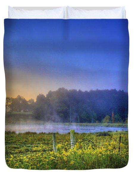 Fogy Sunrise  Duvet Cover