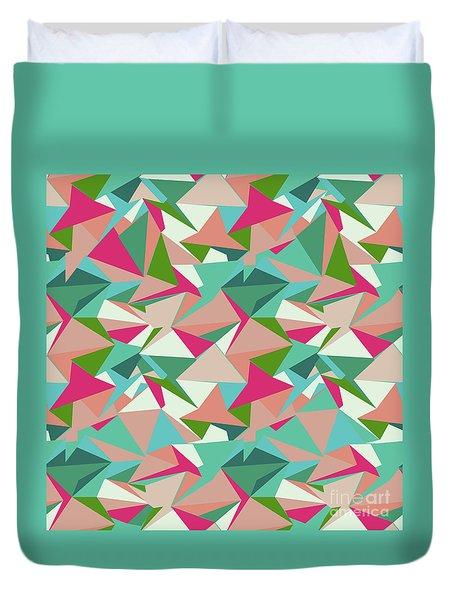 Folded Geometric Duvet Cover