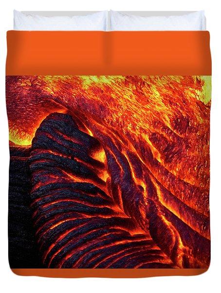 Folding Lava Duvet Cover