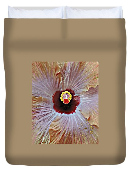 Duvet Cover featuring the photograph Folding Petals by Peggy Stokes