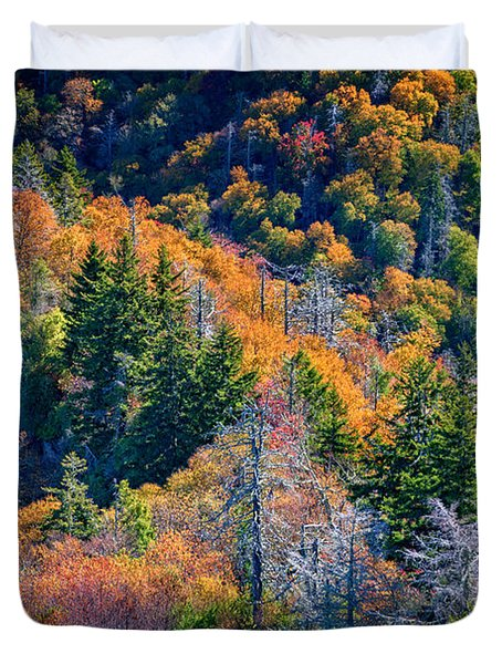Foliage From Chimney Tops Duvet Cover