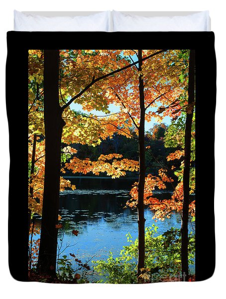 Foliage By The Nashua River Duvet Cover
