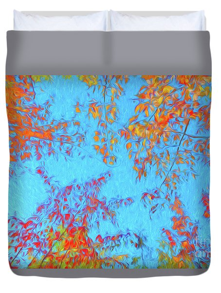 Foliage On Fire Duvet Cover