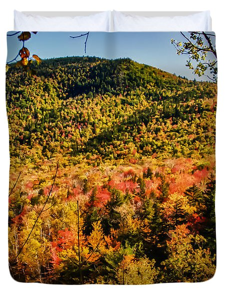 Foliage View From Crawford Notch Road Duvet Cover